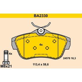Bremsbelagsatz, Scheibenbremse Art. Nr. BA2330 120,00€