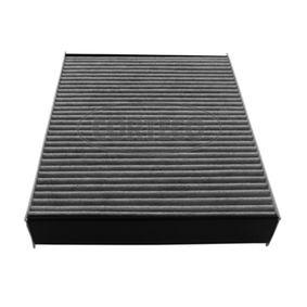 CORTECO  80004354 Filter, Innenraumluft Länge: 246mm, Breite: 196mm, Höhe: 40mm