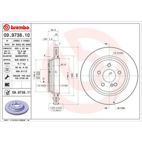 Bremsscheibe Bremsscheibendicke: 22mm, Lochanzahl: 5, Ø: 300mm mit OEM-Nummer 220 423 02 12