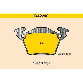 Bremsbelagsatz, Scheibenbremse Breite: 105,1mm, Höhe: 52,9mm, Dicke/Stärke: 17,9mm mit OEM-Nummer A0004214210
