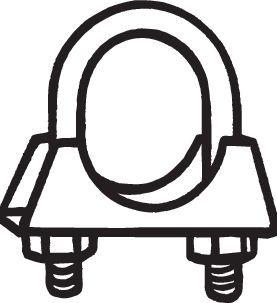 Klämma, avgassystem 250-860 BOSAL 250-860 original kvalite