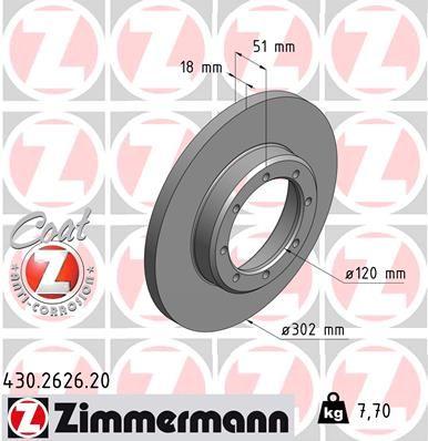 ZIMMERMANN COAT Z 430.2626.20 Bremsscheibe Ø: 302mm