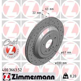 Спирачен диск 400.3663.52 M-класа (W164) ML 320 CDI 3.0 4-matic (164.122) Г.П. 2006