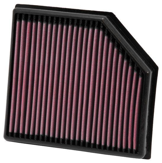 K&N Filters  33-2972 Luftfilter Länge: 225mm, Breite: 210mm, Höhe: 41mm, Länge: 225mm