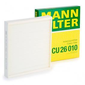 Filter, Innenraumluft Länge: 254mm, Breite: 224mm, Höhe: 36mm mit OEM-Nummer 6R0 819 653