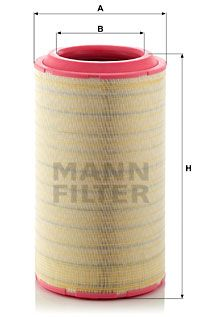 MANN-FILTER  C 37 2680/2 Luftfilter Höhe: 633,8mm