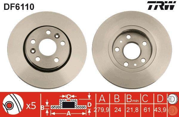 Bremsscheiben DF6110 TRW DF6110 in Original Qualität