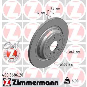 Bremsscheibe Art. Nr. 400.3686.20 120,00€
