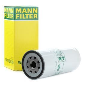 MANN-FILTER  W 11 102/35 Ölfilter Ø: 108mm, Außendurchmesser 2: 103mm, Innendurchmesser 2: 93mm, Höhe: 261mm