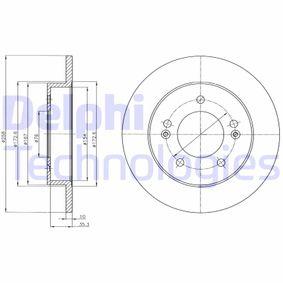Bremsscheibe Bremsscheibendicke: 10mm, Ø: 258mm mit OEM-Nummer 58411 1P300