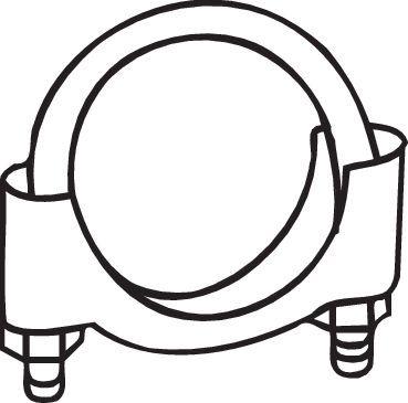 Klämma, avgassystem 250-250 BOSAL 250-250 original kvalite
