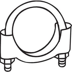 Klemmstück, Abgasanlage 250-250 TWINGO 2 (CN0) 1.5 dCi 90 Bj 2014