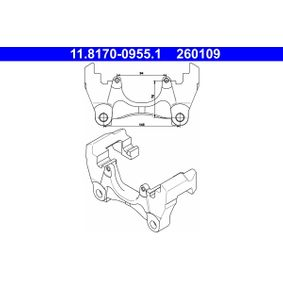 Carrier, brake caliper ATE with OEM Number 7H0615125B