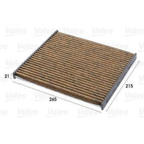 Filter, Innenraumluft Länge: 215mm, Breite: 265mm, Höhe: 21mm mit OEM-Nummer 7 175 4151