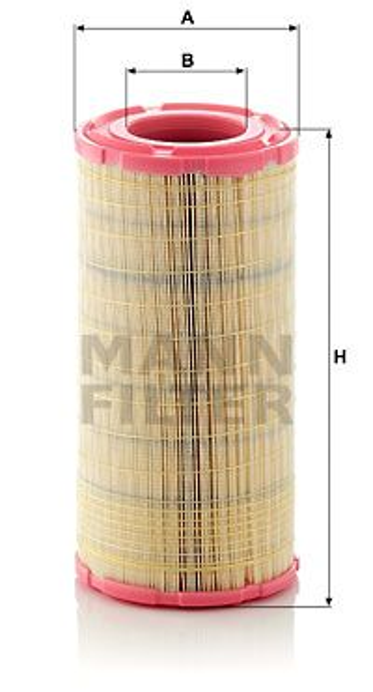 MANN-FILTER  C 21 630/2 Luftfilter Höhe: 423mm