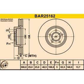 Bremsscheibe Art. Nr. BAR25162 120,00€