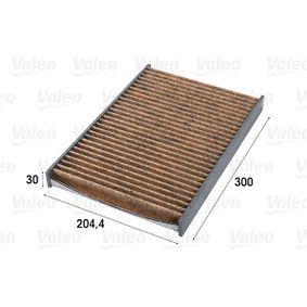 Filter, Innenraumluft Länge: 300mm, Breite: 205mm, Höhe: 31mm mit OEM-Nummer 4B0 819 439 B