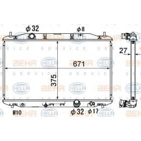 hűtő, motorhűtés 8MK 376 790-491