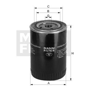 MANN-FILTER  W 9023 Hydraulic Filter, automatic transmission Height: 116mm