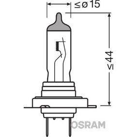 OSRAM Glühlampe, Fernscheinwerfer 64210SV2 für AUDI A4 (8E2, B6) 1.9 TDI ab Baujahr 11.2000, 130 PS