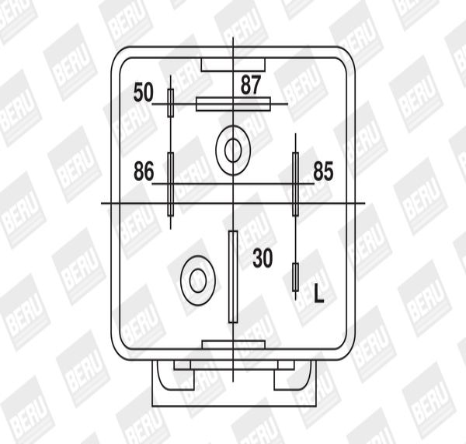 Control Unit, glow plug system GR064 BERU 0201010064 original quality