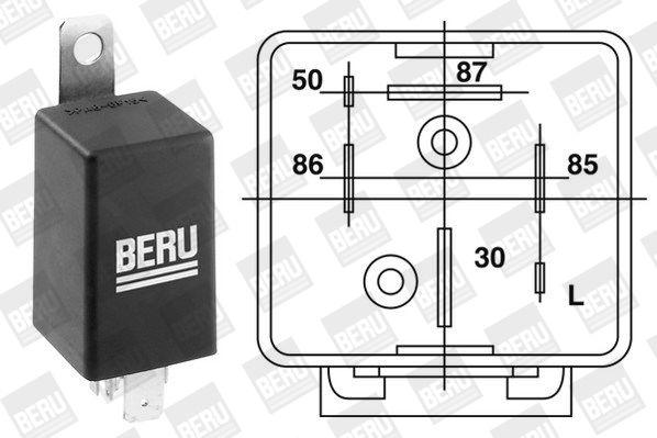 Control Unit, glow plug system BERU 0201010064 4014427053996