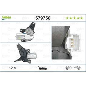 Renault Scenic 2 1.9dCi (JM0G, JM12, JM1G, JM2C) Scheibenwischermotor VALEO 579756 (1.9 dCi Diesel 2006 F9Q 812)