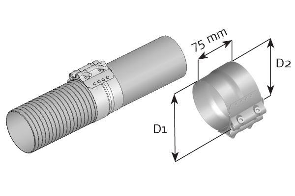 DINEX  99327 Klämma, avgassystem