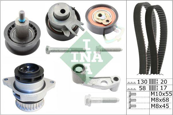 INA  530 0089 30 Water pump and timing belt kit