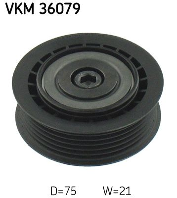 SKF  VKM 36079 Umlenkrolle Keilrippenriemen Ø: 75mm