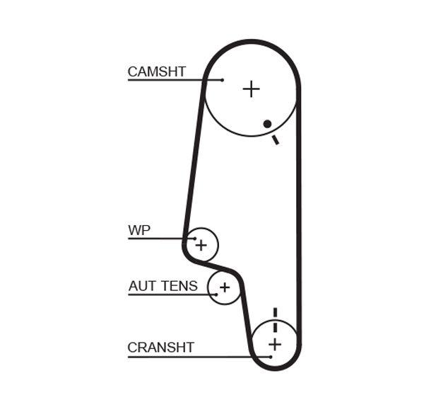 Water Pump + Timing Belt Kit GATES WP0017 rating