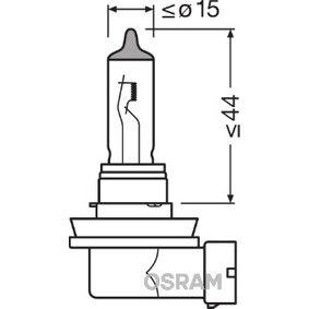 izzó, távfényszóró H11, 55W, 12V 64211SV2