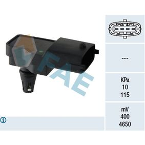 Sensor, intake manifold pressure 15041 PUNTO (188) 1.2 16V 80 MY 2004