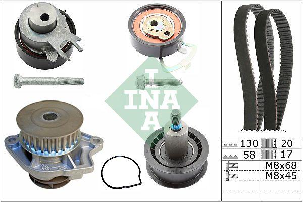 Kit distribuzione + pompa acqua INA 530053830 conoscenze specialistiche