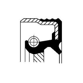 Kurbelwellendichtring für OPEL CORSA C (F08, F68) 1.2 75 PS ab Baujahr 09.2000 CORTECO Wellendichtring, Kurbelwelle (12013882B) für