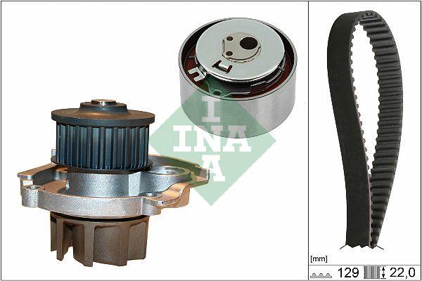 INA  530 0462 30 Waterpomp + distributieriem set