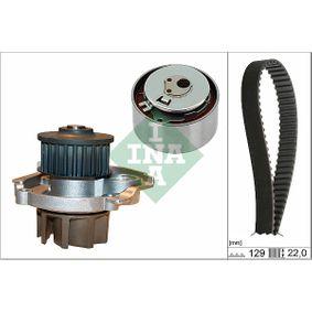 INA  530 0462 30 Wasserpumpe + Zahnriemensatz Breite: 22,00mm