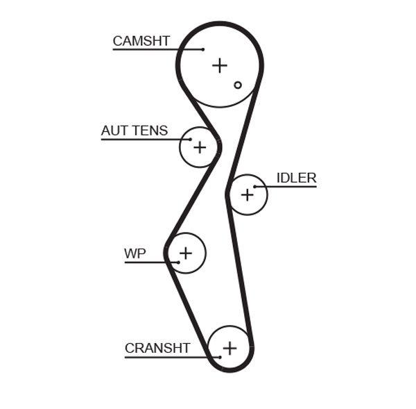 GATES  5672XS Timing Belt Length: 1105mm, Width: 25,4mm
