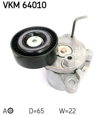 SKF  VKM 64010 Tensioner Pulley, v-ribbed belt Ø: 65,2mm, Width: 25,9mm