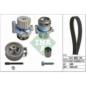 Bomba de Agua + Kit de Distribución SKODA FABIA Combi (6Y5) 1.9 TDI de Año 04.2000 100 CV: Bomba de agua + kit correa distribución (530 0091 30) para de INA
