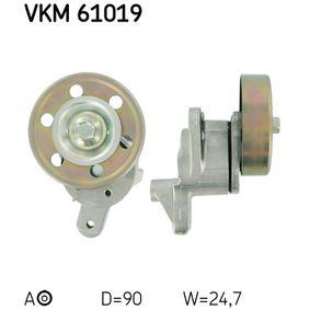 SKF  VKM 61019 Spannrolle, Keilrippenriemen Ø: 90mm, Breite: 24.7mm
