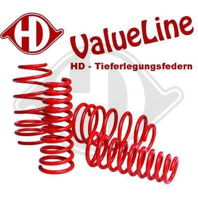 DIEDERICHS HD Tuning 99969124 Fahrwerksatz, Federn