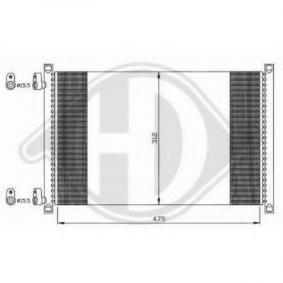 Kondensator, Klimaanlage Netzmaße: 488x312x18 mit OEM-Nummer 46788052