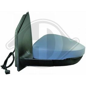 DIEDERICHS Side view mirror Right, Complete Mirror, Control: cable, Convex, form manual mirror adjustment, Primed