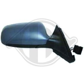 DIEDERICHS Side view mirror Left, Blue-tinted, Complete Mirror, Electronically foldable, for electric mirror adjustment, Heatable, Primed