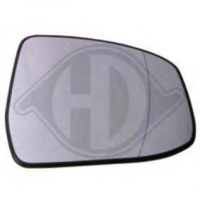 Spiegelglas, Außenspiegel Adapterform: asphärisch mit OEM-Nummer 1 538 211