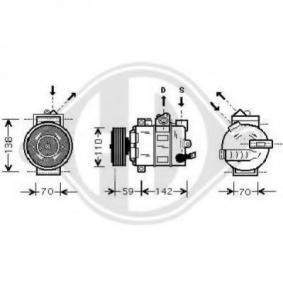 Klimakompressor mit OEM-Nummer 1K0820859
