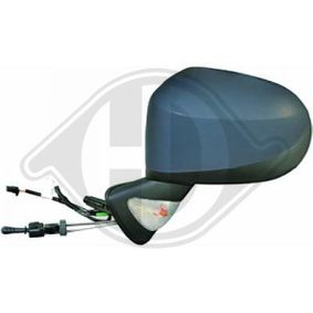 DIEDERICHS Side view mirror Right, Convex, form manual mirror adjustment, with thermo sensor, Primed