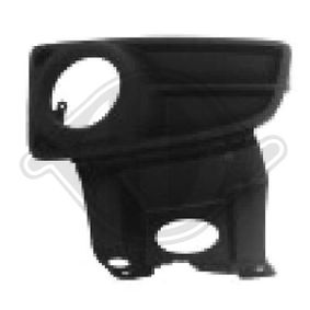 Ventilation Grille, bumper 3434049 PANDA (169) 1.2 MY 2012