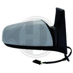 DIEDERICHS Side view mirror Left, Aspherical, Complete Mirror, Electronically foldable, for electric mirror adjustment, Heatable, Primed